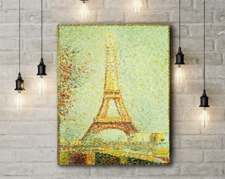 Seurat: The Eiffel Tower. Fine Art Canvas.